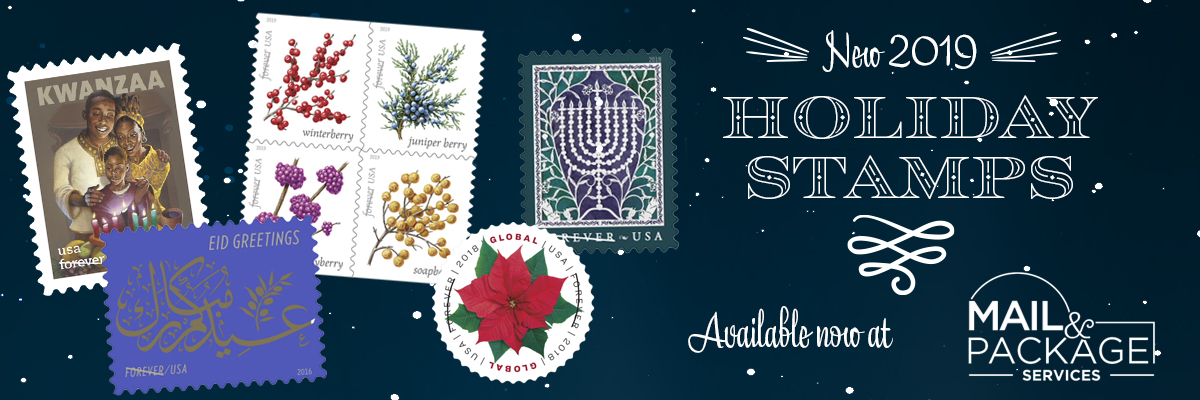2019 Holiday Stamps Now Available