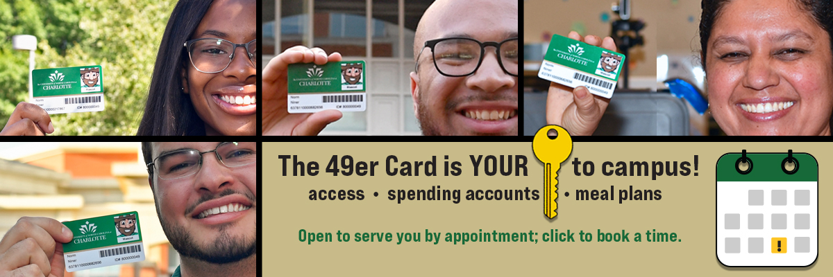 Book an appointment for service at the 49er Card Office