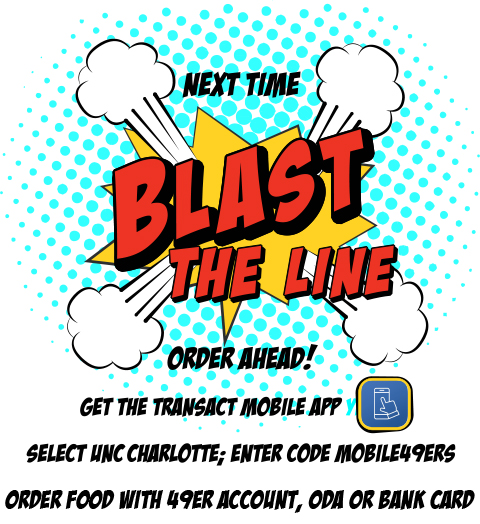 Blast the line with mobile ordering graphic