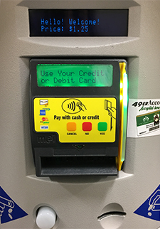 Photo of vending machine card reader