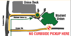 Map of curbside pickup location