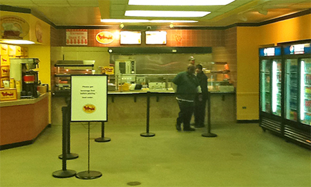 Photo of Bojangles' Express in Main Street Market, before demo
