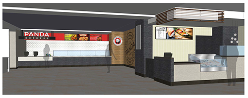 Architectural drawing of Panda Express that will be going into Main Street Market