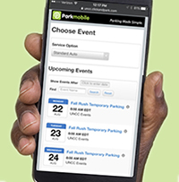Photo of clickandpark mobile web page to buy temporary permit online