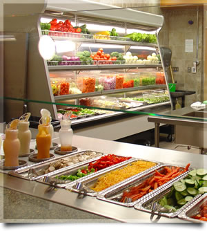 Salad bar at UNC Charlotte