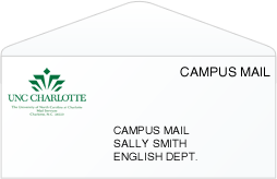 Campus mail at UNC Charlotte