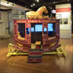photo of stagecoach body from Wells Fargo museum