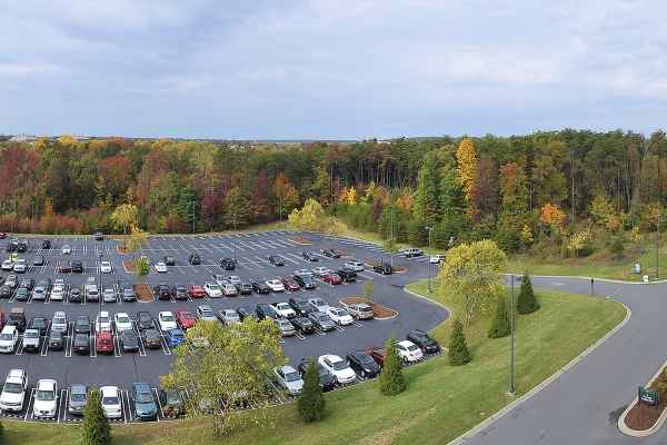 Photo of Lot 26 with fall foliage