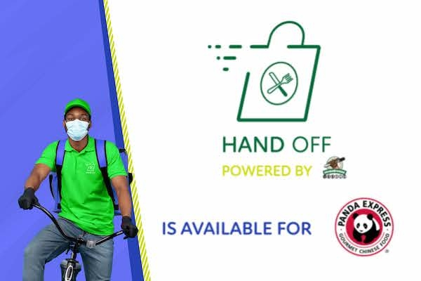 Hand-off delivery available at Panda graphic