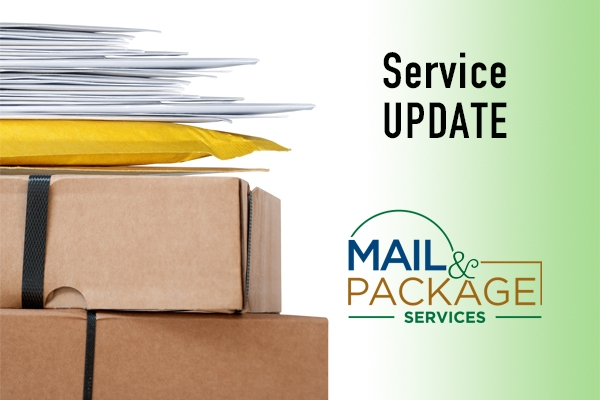 Mail and Package Service Update